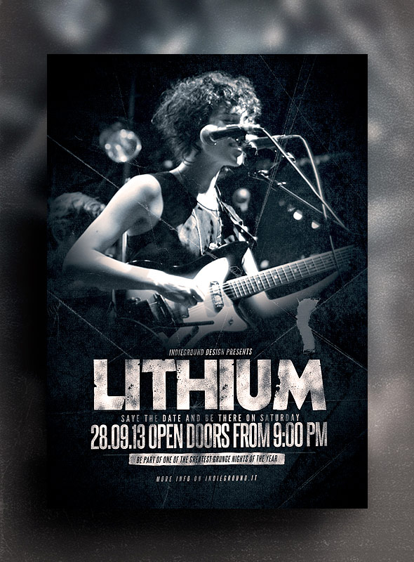 Rock event flyer templates free psd