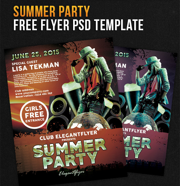 Summer Party flyer templates free download
