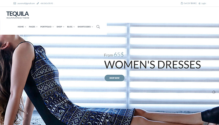 Tequila eCommerce  WordPress Themes 2015