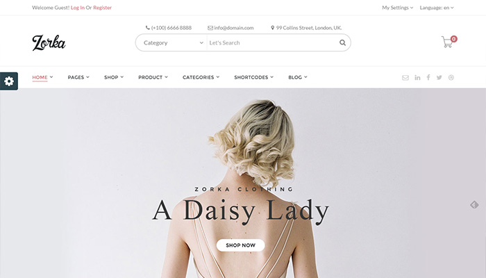 Zorka-fashion eCommerce WordPress Themes 2015