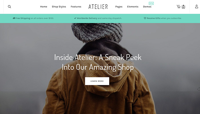 eCommerce WordPress Themes 2015 Atelier