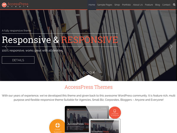 free wordpress themes may 2015 AccessPress-Staple