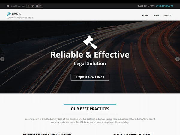 free wordpress themes may 2015 Legal