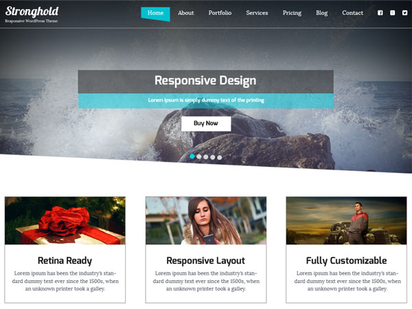 free wordpress themes may 2015-StrongHold