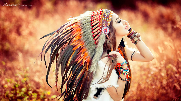 Boho Girl - Inspire of fire by Chuối Guevara