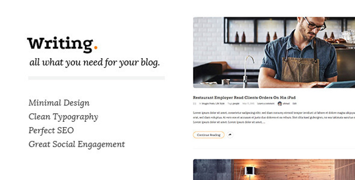 Writing-Minimal-Blog-Wordpress-Theme