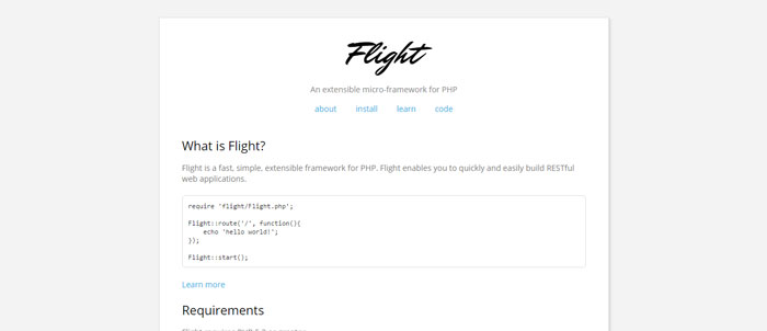 Flight-micro-framework-for-PHP