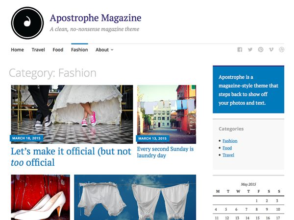 Apostrophe Free Magazine WordPress Theme