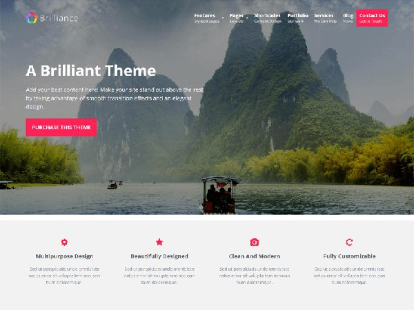 Brilliance Free Multipurpose WordPress Theme