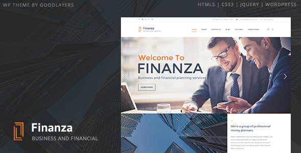 Business Financial WordPress Theme