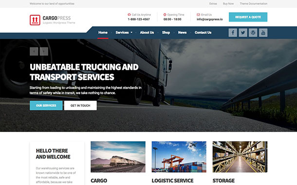CargoPress Transportation WordPress Theme