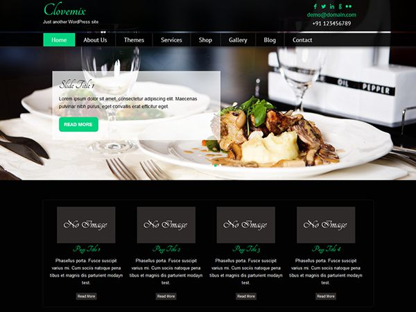 Clovemix Free Restaurant WordPress Themes 2015