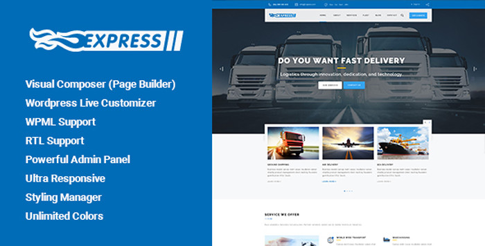 Express Transports and Logistics WordPress Theme