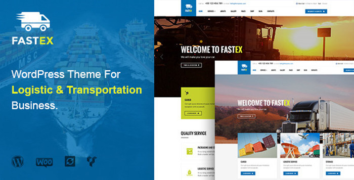 FastEx Transport Logistics WordPress Theme