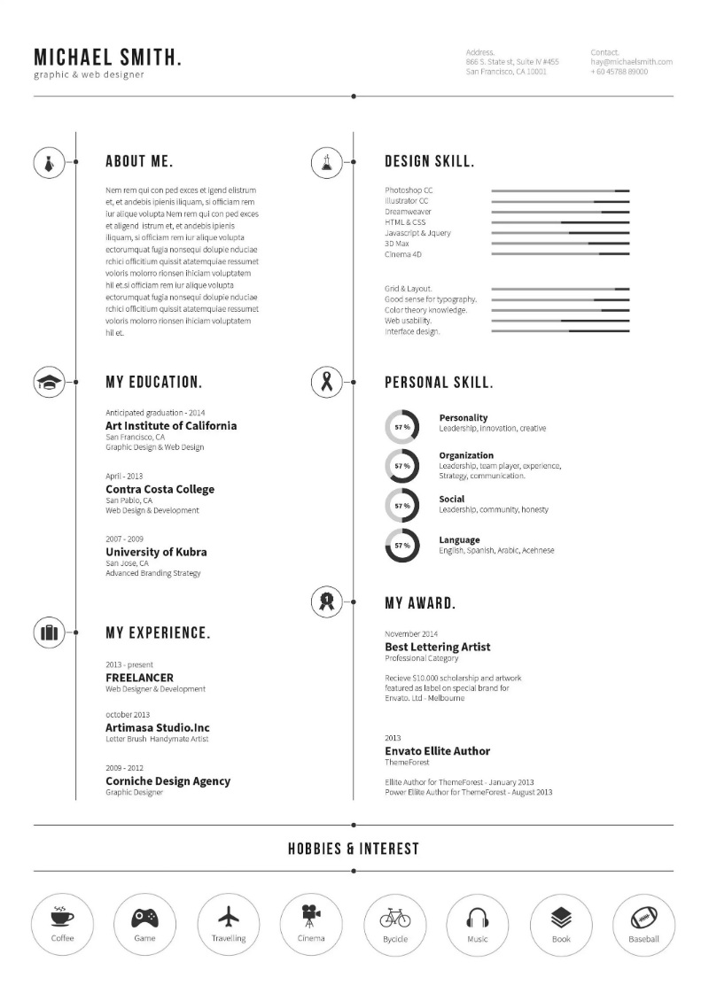 resume template 2 - Minimalist Resume Template