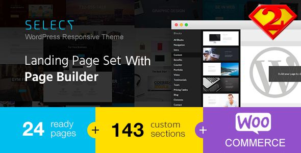 Select Responsive Landing Page WordPress Theme