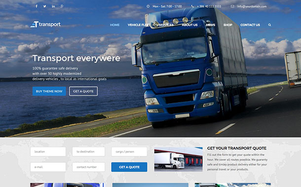 Transport WordPress Themes 2