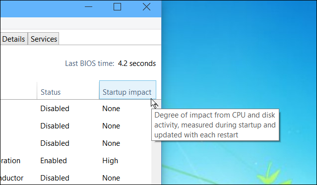 Windows 10 Task Manager startup impact