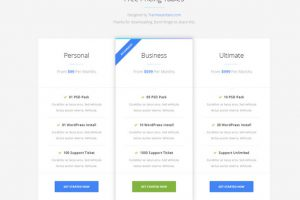 1 minimal pricing table