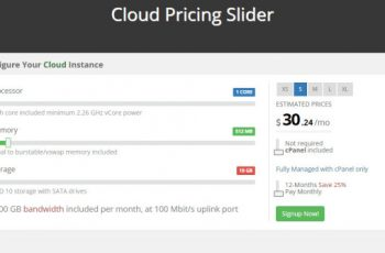 Cloud Pricing Slider