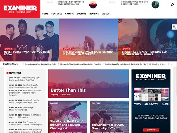 Examiner WordPress Theme