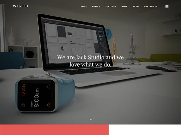 Wired portfolio theme