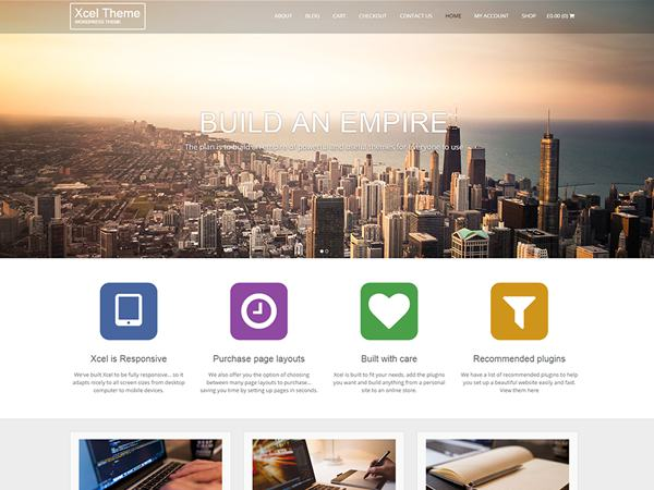 Xcel Free WordPress Theme