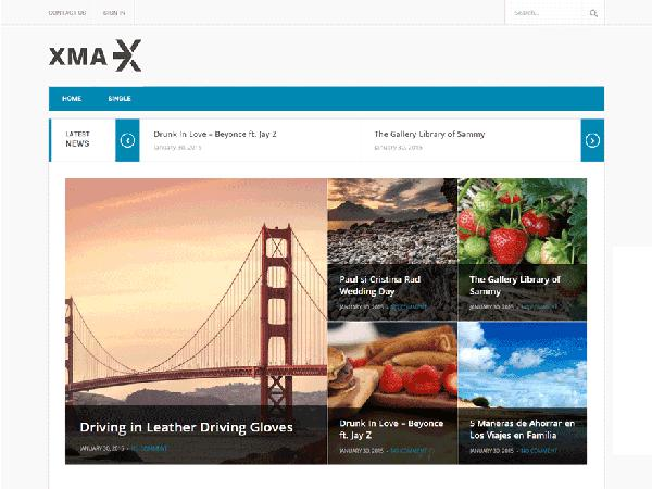 Xmax Free Magazine WordPress Theme