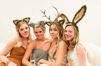 Lauren Conrad and friends dressed as party animals Halloween Celebrities