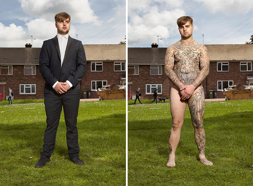 Photographer Reveals What Hides Under Tattooed People's Everyday Clothes 13