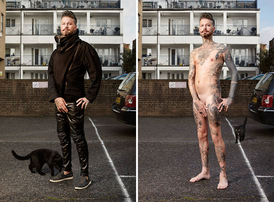 Photographer Reveals What Hides Under Tattooed People's Everyday Clothes 7