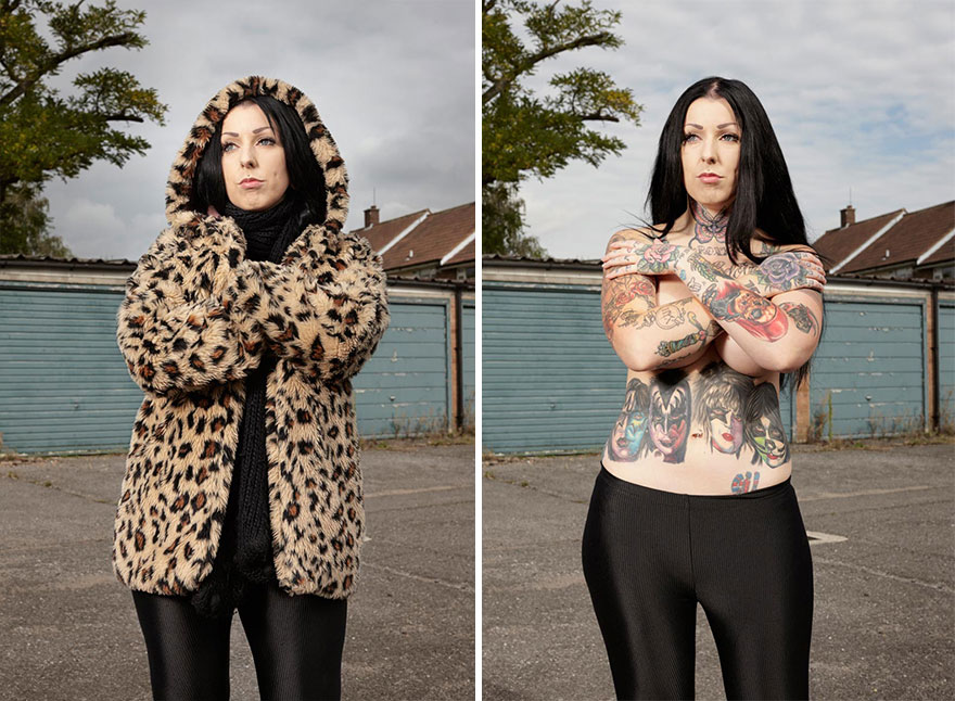 Photographer Reveals What Hides Under Tattooed People's Everyday Clothes 8
