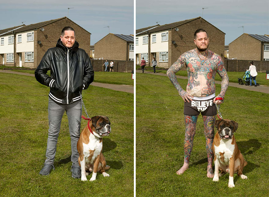 Photographer Reveals What Hides Under Tattooed People's Everyday Clothes 9