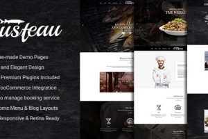 Elegant Food and Restaurant WordPress Theme Gusteau 1
