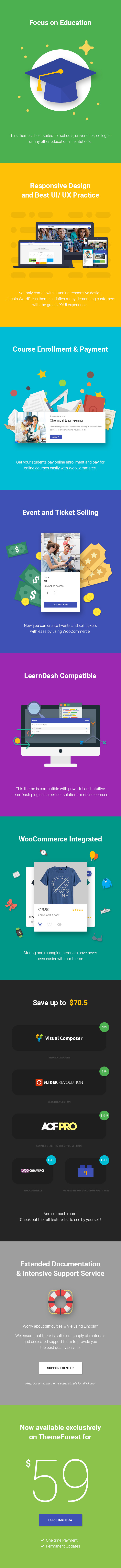 Lincoln Education Material WordPress Theme 2