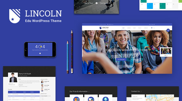 Lincoln Education Material WordPress Theme