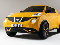 Origami Nissan Juke: a full-size version of this Nissan car out of paper