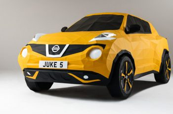 Origami Nissan Juke Nissan car out of paper 1