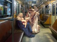 Artist Photoshopped Classic Paintings Characters into Modern City Scenes