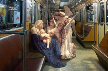 classical art characters with contemporary city scenes 1