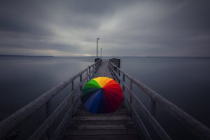 rainbow umbrella photos 1