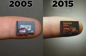 And memory cards can store everything