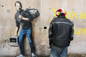 Banksy Steve Jobs artwork to highlight Syria refugee crisis 1