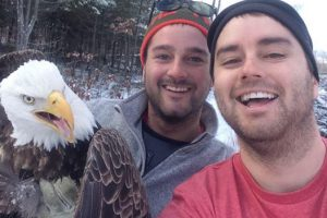 Brothers Rescue Eagle Caught In Trap Take Epic Selfie