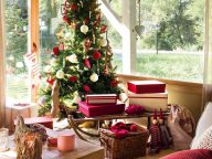 Spanish-Nordic Style Home Decorated for Christmas