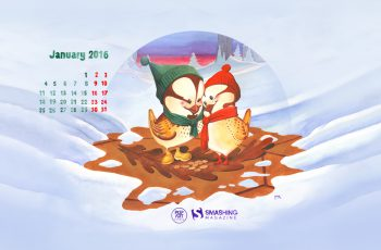 Oaken January 2016 Calendars Desktop Wallpapers-1366x768