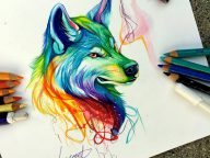 Amazing Pencil And Marker Illustrations of Wild Animal Spirits