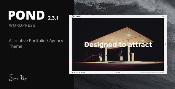 Pond Creative Agency WordPress Theme