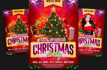 free christmas party flyer templates 30