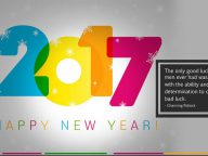30 Colorful and Bright Happy New Year Greeting Cards 2017